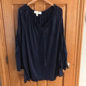 French Laundry Navy Sz 2x blouse